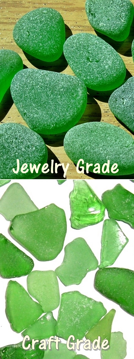 Jewelry Grade vs Craft Grade Beach Glass