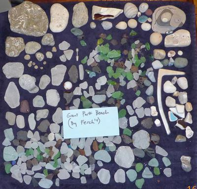A lot of beach glass and other finds