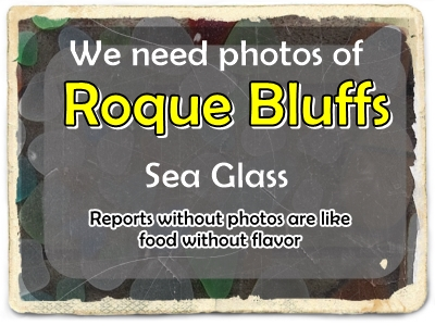 need sea glass photos of Roque Bluff State Park