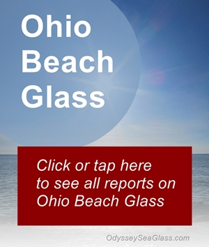 Ohio beach glass reports and photos link