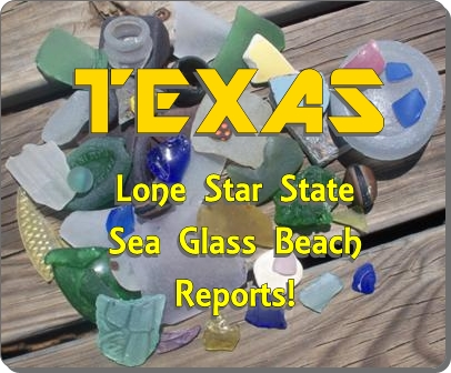 Find sea glass in Texas including Galveston Bay