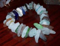 How to drill Glass Bracelet with sea glass and glass drill bit