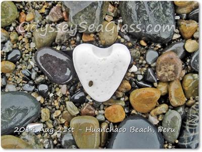 Ceramic Heart Beach Find