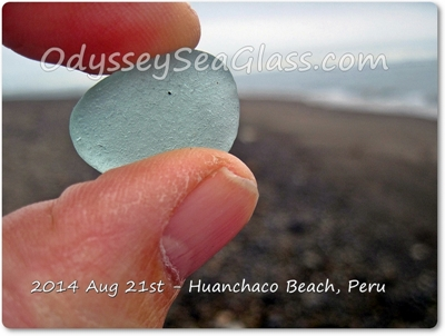 Huanchaco Beach Peru - Sea Glass reports August 21, 2014