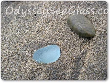 Big pale blue sea glass