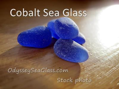 Cobalt sea glass photo from Odyssey stock files