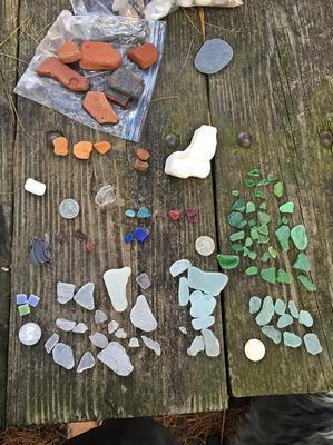 Illinois Beach State Park Beach Glass 1