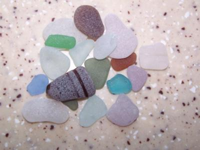 Chicago beach glass 2