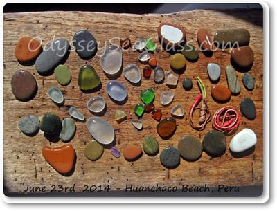 June 23, 2014, sea glass catch of  the day