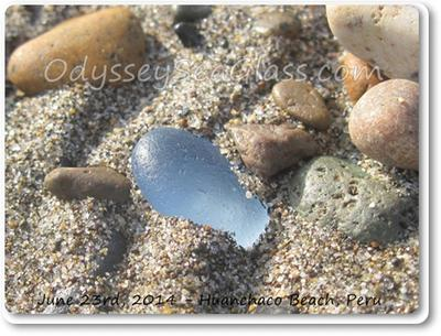 Here's the beach glass that Lin claims for her personal jewelry project