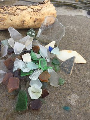 Beach glass found this afternoon!