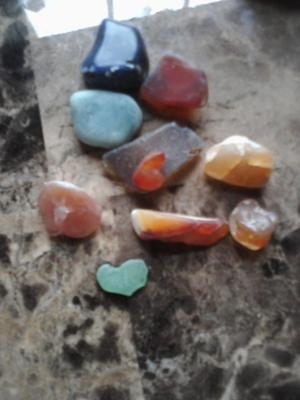 Agates and other odd stones from Keyes Beach