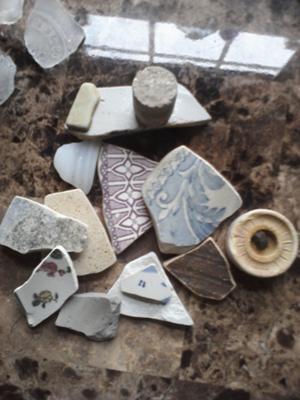 Beach pottery shards