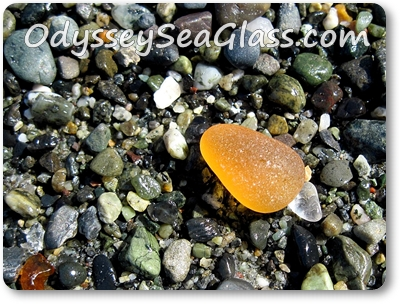 Orange Sea Glass