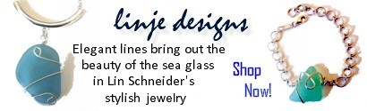 Stylish sea glass jewelry from linje designs
