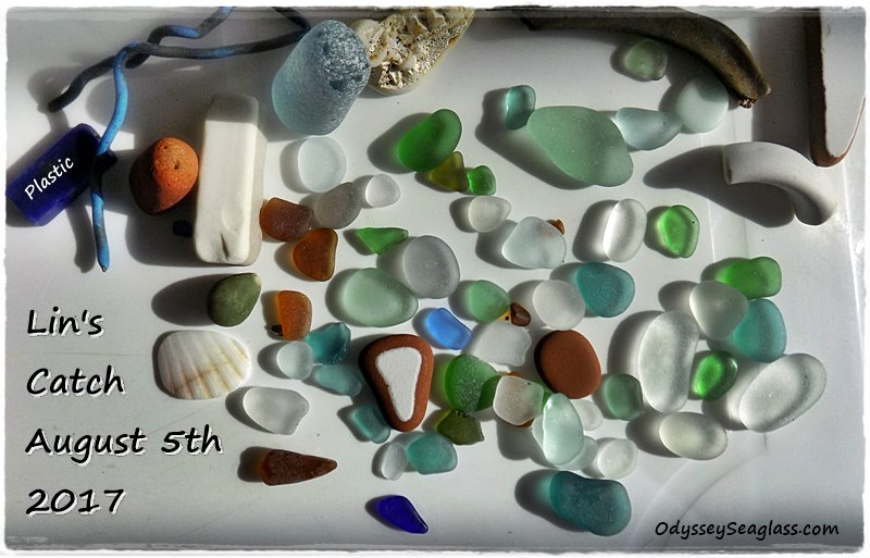 Lin's sea glass she found in  Hanchaco Peru on Aug 5 2017