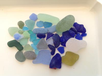 Lucky in Spain sea glass