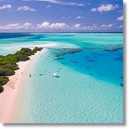 Tropical Beach Background Maldives