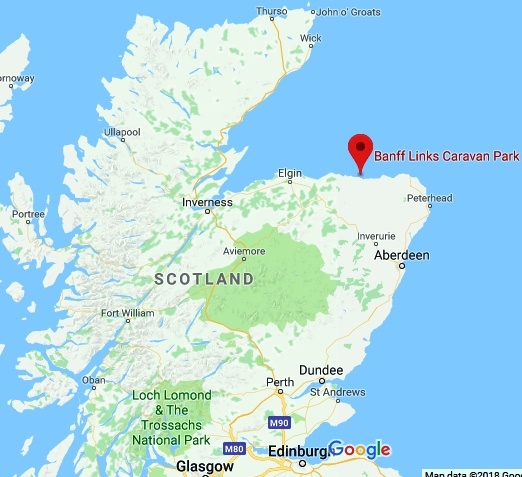 map of area of banff beach scotland for sea glass
