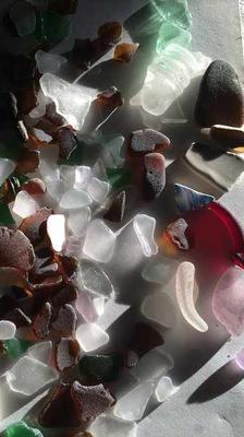 Lots of beach glass