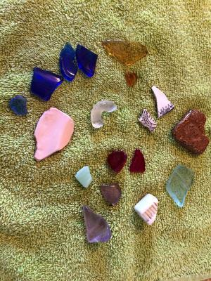 Miscellaneous Sea Glass and Pottery