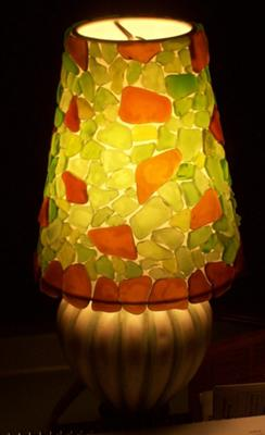 Mosaic Sea Glass Lamp Shade
