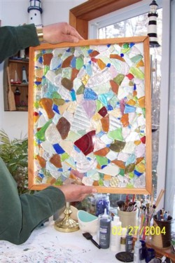 Sea Glass Crafts Window Hanging