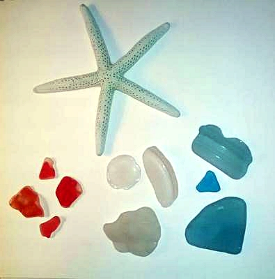 Never too late for Red, White and Blue - August 2013 Sea Glass Photo Contest