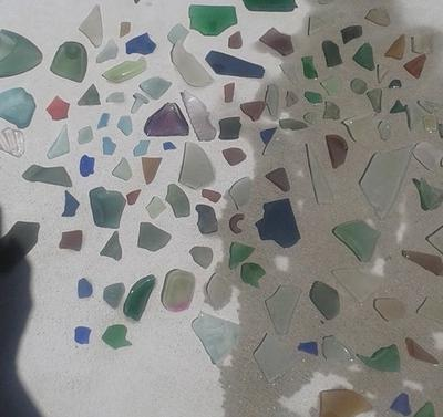 Just a few pieces of Sea Glass