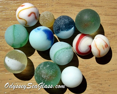 sea glass marble assortment