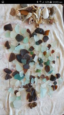 My haul of Aussie Sea Glass