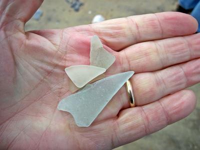 Raw sea glass found at North Beach, MD
