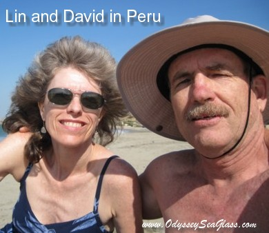 David and Lin on beach in Peru News