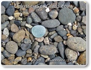 blue sea glass beach glass