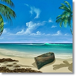 Tropical Beach Background Paradise