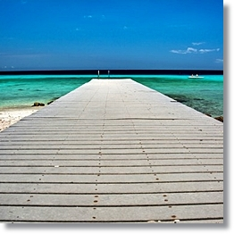 Tropical Beach Background Pier
