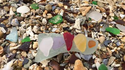 Rainbow of seaglass today