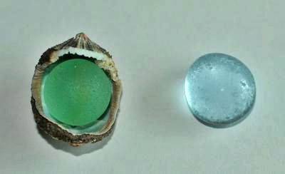1. Old Marble and Light Blue Glass Droplet