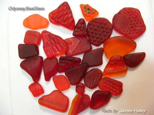 Rare colors in sea glass and beach finds