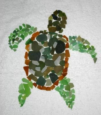 Sea Glass Turtle