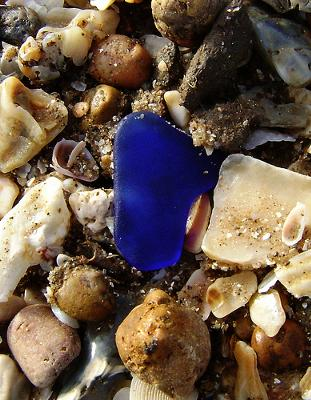 Sargent Beach, Texas, Cobalt Blue Beach Glass