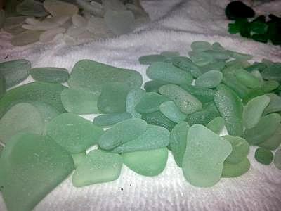 <3 Sea Foam Green Sea Glass