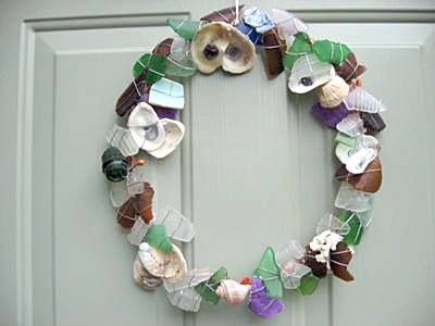 Sea Glass All Year Wreath
