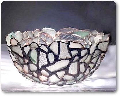 Sea Glass Art Bowl