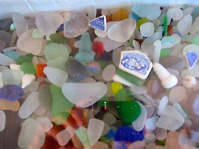 Sea glass at Souris East Lighthouse, in PEI