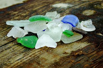 Sea Glass from Spectacle Island, Boston Harbor