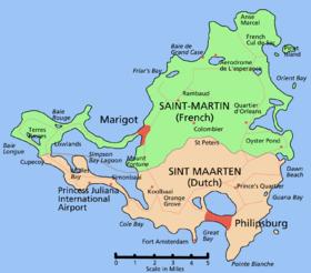 Saint Maarten/Saint Martin map