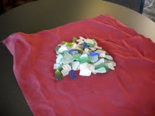 Sea glass from the beach in Cayucos