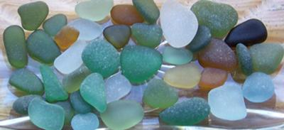 Sea glass from Italy