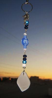 Sea Glass Key Chains - White